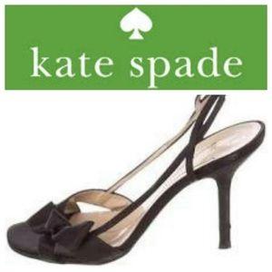 Kate Spade Lover Slingback Bow Heels Black